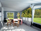 2019 Inaca Fjord 300 Silver Caravan Awning Size 1150cm, Fibre Frame