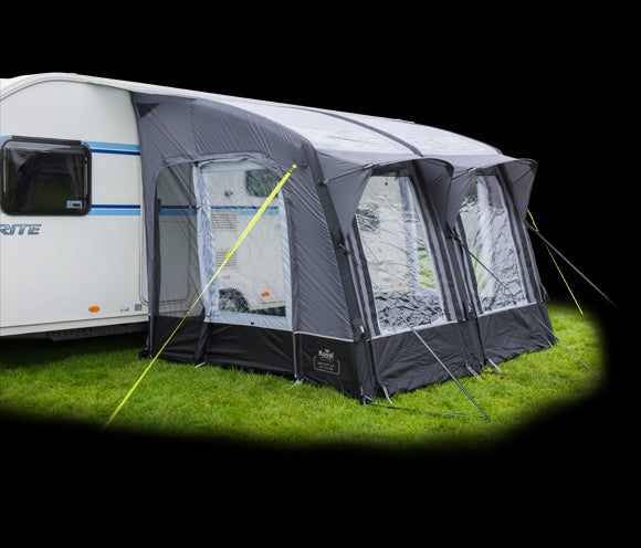 Royal Armscote Air 260 Inflatable Touring Caravan Porch Awning Black/Silver