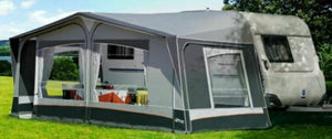 2019 Inaca Sands Silver 250 Caravan Awning Size 1100cm, fibre frame