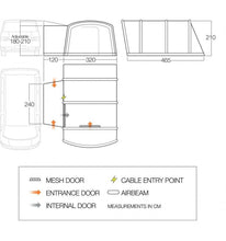 Load image into Gallery viewer, 2020 Vango Galli III Low (180-210cm) Inflatable Motorhome Awning