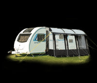 Royal Wessex 390 Lightweight Touring Caravan Porch Awning Black/Grey CLEARANCE