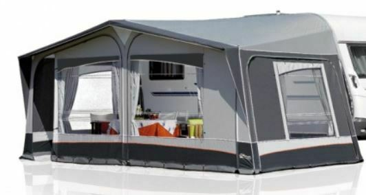 2019 Inaca Sands Silver 250 Caravan Awning Size 1225cm, steel frame