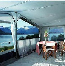 Load image into Gallery viewer, 2019 Inaca Sands Silver 250 Caravan Awning Size 1000cm, fibre frame