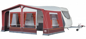 2019 Dorema Daytona 240 Steel 28mm Frame Size 10 Touring Caravan Awning Red