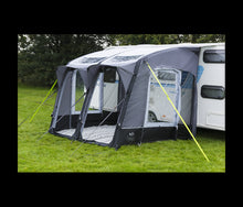 Load image into Gallery viewer, Royal Armscote Air 260 Inflatable Touring Caravan Porch Awning Black/Silver