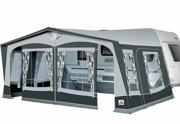 2019 Dorema President XL 300 Size 14 with Steel Frame All Season Full Awning