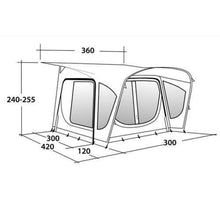 Load image into Gallery viewer, Outwell Amber 300sa Inflatable Caravan Porch Awning PACKAGE DEAL!! includes Roof Lining & Carpet