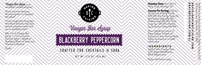 Blackberry Peppercorn Bar Syrup