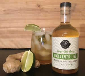 Ginger Kaffir Lime Bar Syrup
