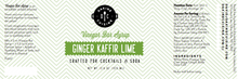 Load image into Gallery viewer, Ginger Kaffir Lime Bar Syrup