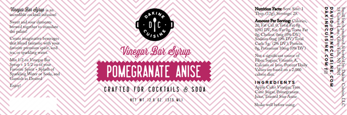 Pomegranate Anise Bar Syrup
