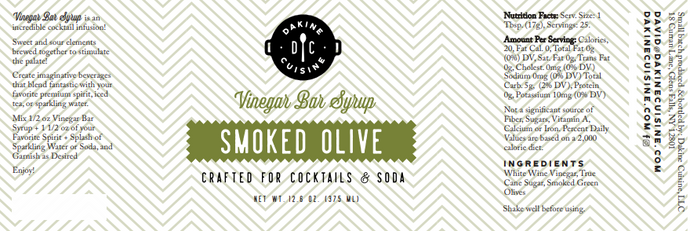 Smoked Olive Bar Syrup