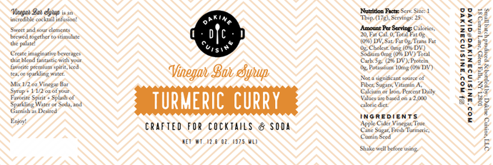 Turmeric Curry Bar Syrup