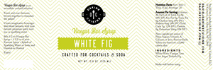 White Fig Bar Syrup