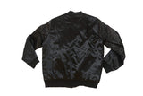 First Priority Music- Black Satin Bomber Jacket - firstprioritymusic