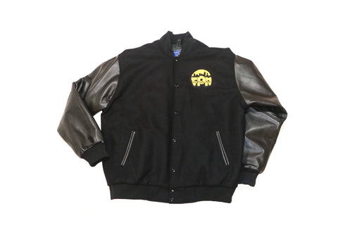 First Priority Music- Limited Edition Varsity Jacket with Black Leather Sleeve - firstprioritymusic