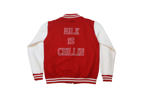First Priority Music- Milk Is Chillin- Spring Varsity Jacket - firstprioritymusic