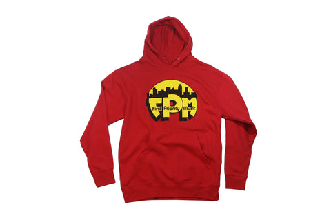 First Priority Music-Hoodie Sweatshirt- Red - firstprioritymusic