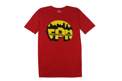 First Priority Music- Authentic Logo Tee Short Sleeve Red - firstprioritymusic