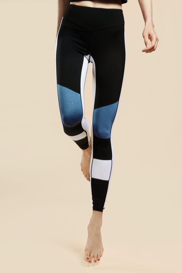 Mid-Raised Tricolore Leggings