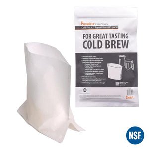 Cold Pro Jr.™ Gusseted Filter Pack of 25 Filters - Brewista