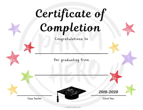 Fill-in-the-Blank Diploma for Kids