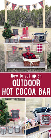 outdoor cocoa bar with rustic theme
