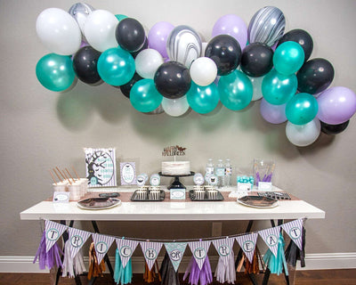 Cute Halloween Party Decor with Balloon Garland