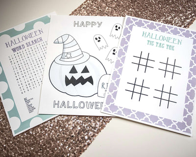 Cute Halloween Activity Printables - Set of 3