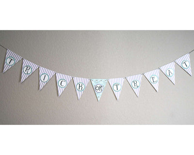 Cute Trick or Treat Halloween Party Banner