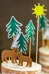 Woodland Party Animal Cake Toppers