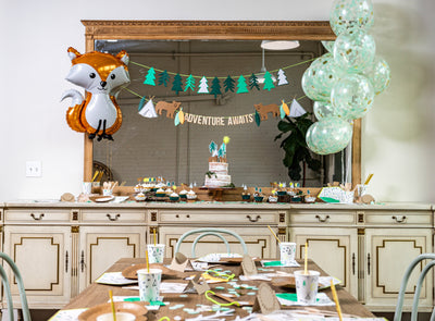 Woodland Adventure Party Main Table Decor