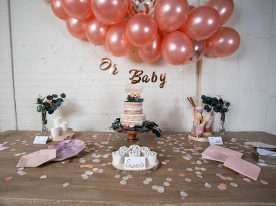 Purple and Rose Gold Baby Shower Supplies