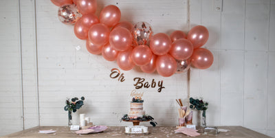 Purple and Rose Gold Baby Shower