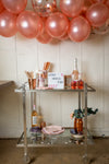 Purple and Rose Gold Party Bar Cart