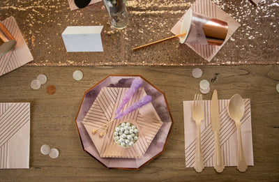 Purple and Rose Gold Party Supplies