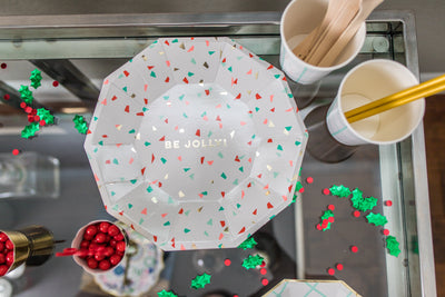Be Jolly Holiday Party Plates with Cups and Utensils