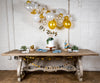 Malibu Blue and Gold Baby Shower Decor with Balloon Garland