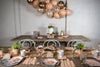 Boho Chic Grey and Peach Birthday Party