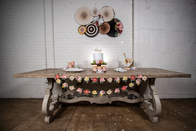 Botanical Party in a Box with Decorative Fan Backdrop