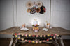 Botanical Party Decor with Decorative Fan Backdrop