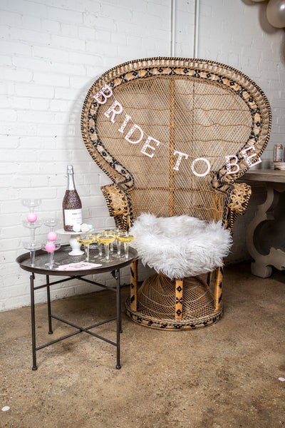 Light Pink Bride to Be Banner with Prosecco Pong Game