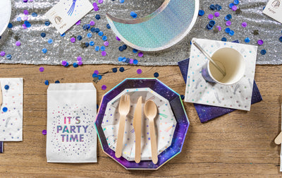 Cosmic Space Party Table Setting