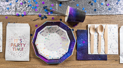 Cosmic Space Party Tableware Setup