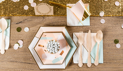 Chic Desert Rose Baby Shower Tableware