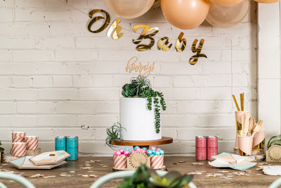 Chic Desert Rose Baby Shower Supplies
