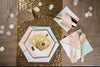 Chic Desert Rose Bridal Shower Place Setting