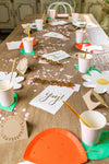 Enchanted Garden Fairy Party Table Setup