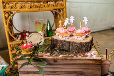 Garden Fairy Party Cupcake Toppers and Liners
