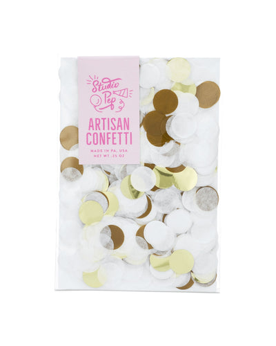 White and Gold Mylar Party Confetti